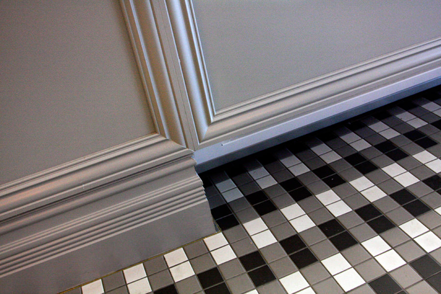 tiling and cabinet work fit out