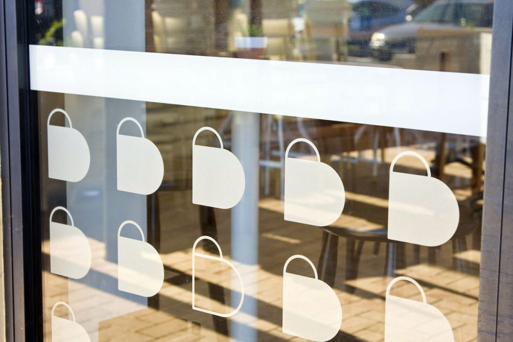 cafe window decals