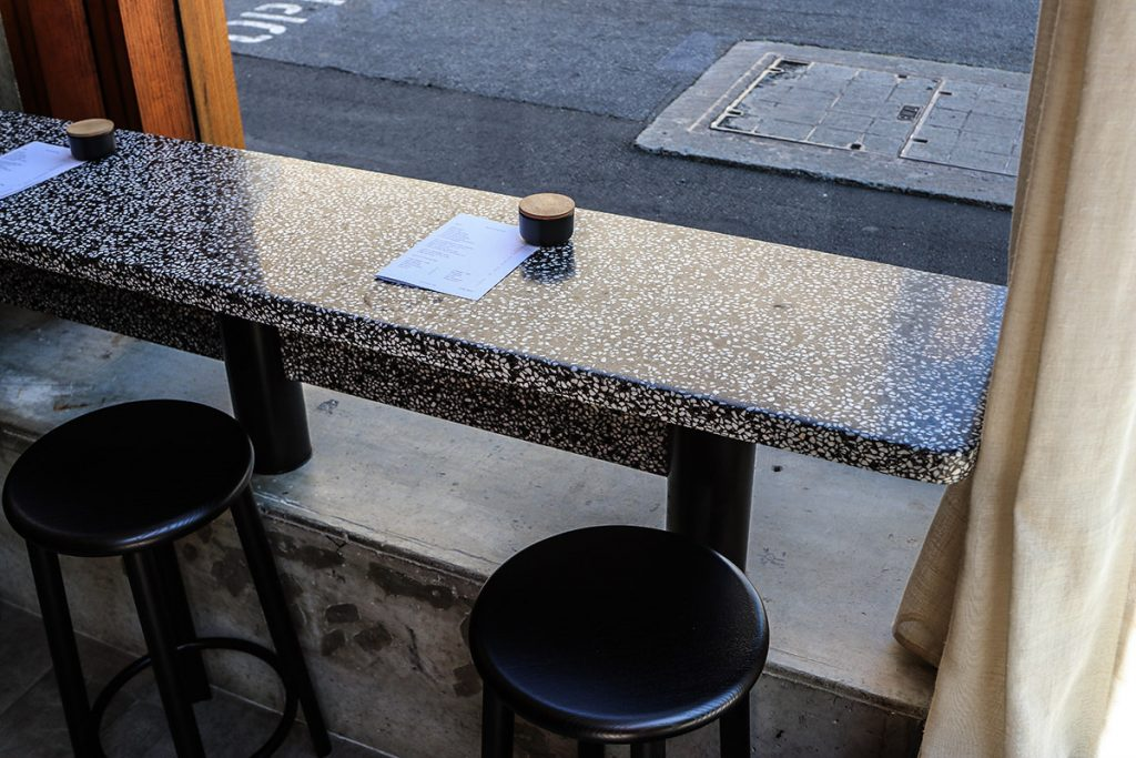Window table for cafe