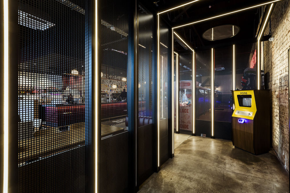 entrance fit out led frame