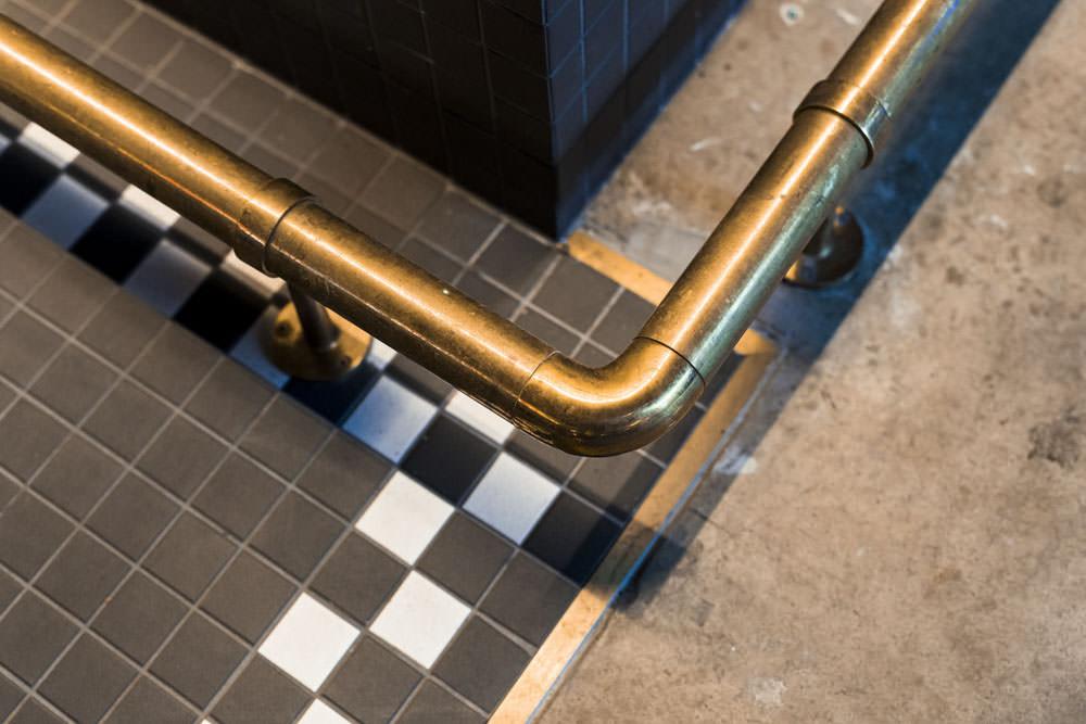 custom brass bar step